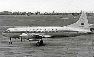 Lufthansa - Lufthansa's first aircraft, a Convair 340 (type pictured), was delivered in August 1954