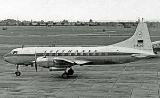 Lufthansa - Lufthansa's first aircraft, a Convair 340 (type pictured), was delivered in August 1954.