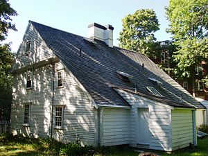 Cooper–Frost–Austin House - View from rear corner, showing lean-to section.