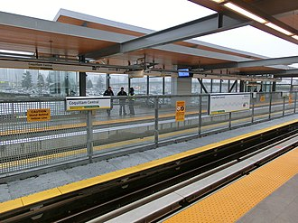 Coquitlam Central station - SkyTrain platforms at Coquitlam Central station