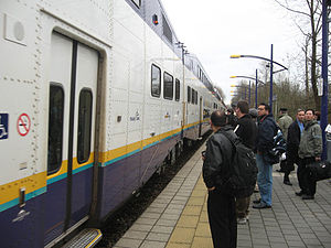 West Coast Express - Image: Coquitlam Station board