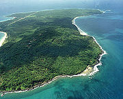 Corn Island off the Atlantic Coast was originally a British protectorate until it was ceded along with the rest of the Mosquito Coast to Nicaragua