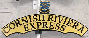 Cornish Riviera Express - Image: Cornish Riviera Express headboard at the NRM