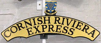 Cornish Riviera Express - Image: Cornish Riviera Express headboard at the NRM