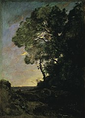 Tree landscape (evening)