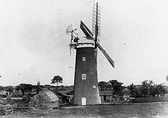 Corton, Suffolk - Image: Corton Mill 1910