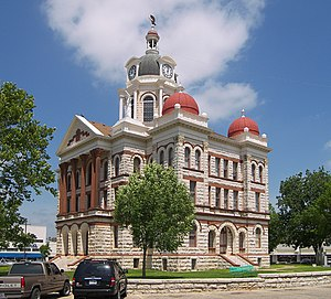 Gatesville, Texas - Coryell County courthouse