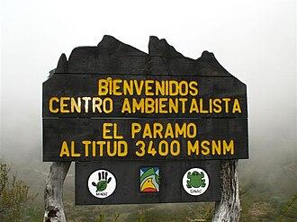 Costa Rican páramo - Image: Costa Rica Chirripo paramo