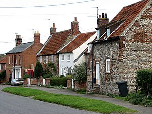 Binham - Image: Cottages on Hindringham Road