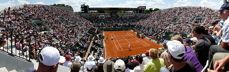 Suzanne Lenglen court during the French Open