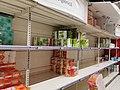 Covid19 toilet paper shelves in an Romanian supermarket.jpg