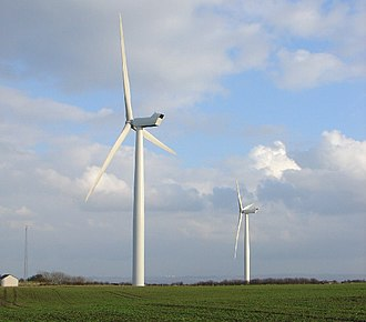 Holmside Hall Wind Farm - The two turbines of Holmside Hall