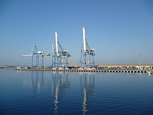 Economy of Cyprus - The port of Limassol, the busiest in Cyprus.