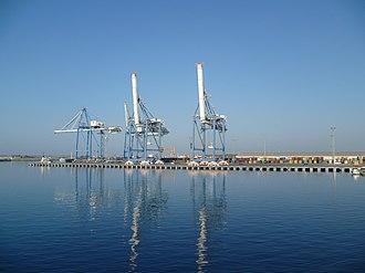Port of Limassol - Cranes in Limassol Harbour.