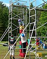 Crate Climbing at Scout Camp - geograph.org.uk - 451466.jpg