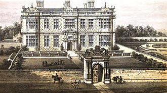 Crewe Hall - Crewe Hall from an early engraving