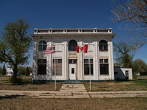 Antler, North Dakota - Views of the old customs house in Antler