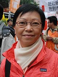 Cyd Ho at January 2013 protest (cropped).jpg