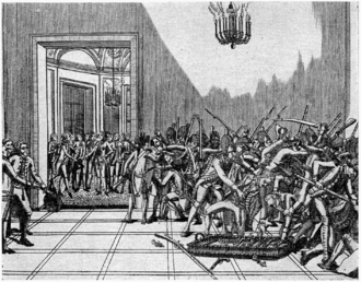 Day of Daggers - The disarming of the nobles in the Tuileries Palace on 28 February 1791