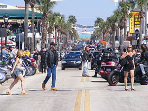 Daytona Beach Bike Week - Activity on Main Street, Bike Week 2008