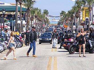 Daytona Beach Bike Week - Activity on Main Street, Bike Week 2008