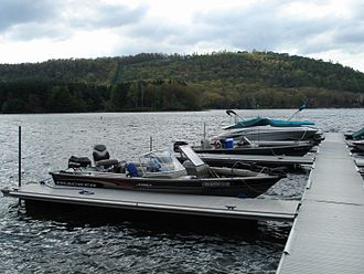 Deep Creek Lake - Boats docked at a Deep Creek Lake pier in May 2008.