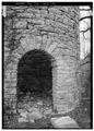 DETAIL OF ENTRANCE - Daniel Huff Mill, Lincoln Memorial University, Harrogate, Claiborne County, TN HABS TENN,13-HARRO,1-4.tif