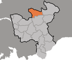 Location of Yŏnsan County