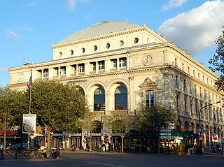 Théâtre de la Ville theater building in Paris on the Place du Châtelet