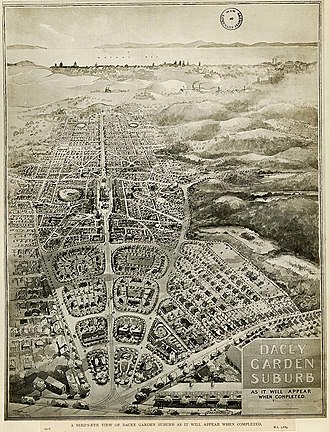 Daceyville - A bird's-eye view of Dacey Garden Suburb (1918)