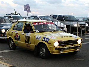 Daihatsu Charade - Viera brothers' Daihatsu Charade G10 at the 13° Rally 19 Capitals Historic of Uruguay finish line