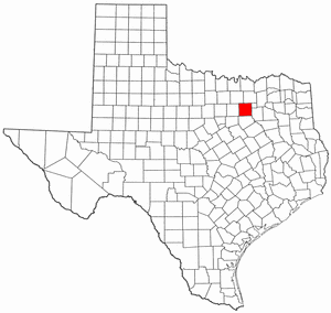 National Register of Historic Places listings in Dallas County, Texas - Location of Dallas County in Texas