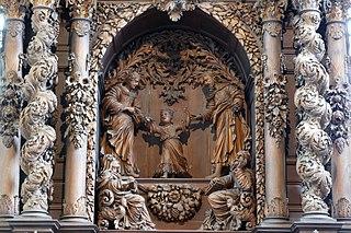groupe sculpté à Dambach-la-Ville