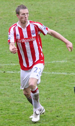 Danny Collins (footballer) - Collins playing for Stoke City in 2010