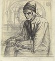 Dante Gabriel Rossetti - Dante in Meditation Holding a Pomegranate.jpg