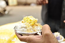 Daulat Chaat is made using a complicated technique of condensing milk foam on a cold night, this dish is only available during winters.