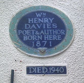 "W. H. Davies - Plaque commemorating Davies' supposed place of birth, at ""The Church House Inn"", in Pillgwenlly, Newport, Wales."