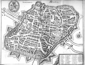 Nuremberg - Map of Nuremberg, 1648