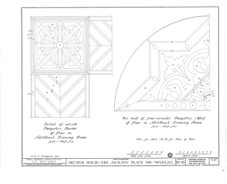 File:Decatur House, National Trust for Historic Preservation, 748 Jackson Place Northwest, Washington, District of Columbia, DC HABS DC,WASH,28- (sheet 20 of 23).png