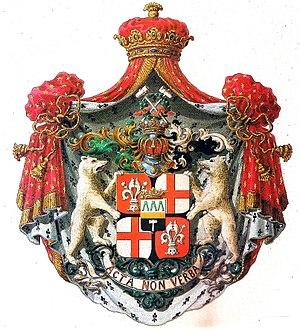 Demidov - Arms of Anatoly Demidov, <br> 1st Prince of San Donato