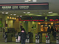 Den-en-chofu Station ticket barriers.jpg