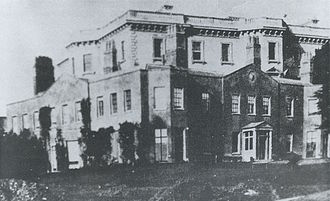 Denbies - Cubitt's new mansion, nearing completion behind Tyers' smaller mansion