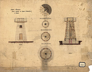Dent Island Light - Plans for the tower, 1878
