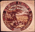 Design Patent for Simon Crow's Pure White Wheat Whiskey Label - NARA - 305884.tif