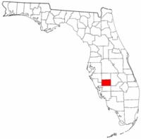 佛罗里达州德索托县地图