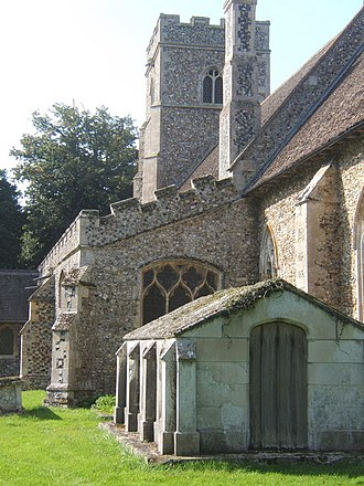 Shimpling - Detail of St George's Church