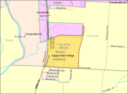 Detailed map of Logan Elm Village