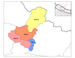 Dhaulagiri Zone - Image: Dhawalagiri districts
