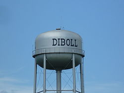 Diboll watertower