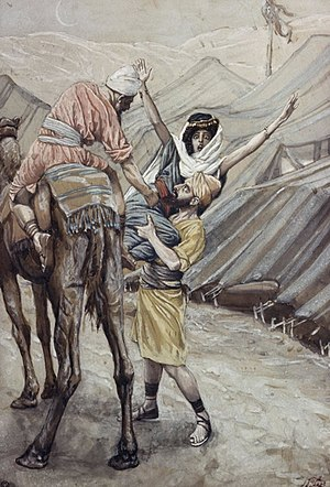 Dinah - The abduction of Dinah, depicted by James Tissot